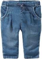 Osh Kosh Baby Girl Pull-On Denim Pants