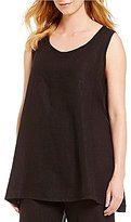 Bryn Walker Long Trapeze Light Linen Tank