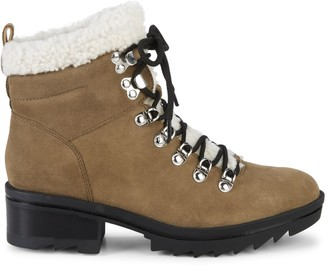 Marc Fisher Brylee Suede & Shearling Hikers