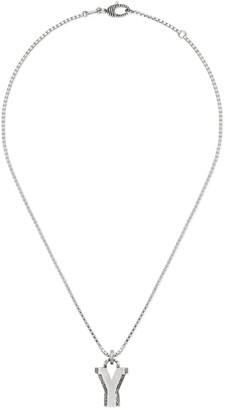 """Gucci Silver """"Y"""" letter necklace"""