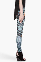 McQ by Alexander McQueen Teal and black Kaleidoscopic shell Printed Leggings