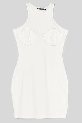 Nasty Gal Womens Explain the Stitch-uation Racer Mini Dress - Off White
