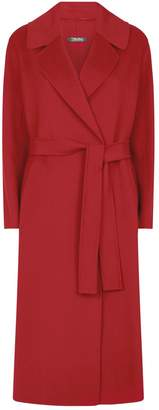 Max Mara Wool Longline Wrap Coat
