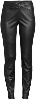 Lafayette 148 New York Nappa Leather Mercer Pants