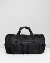 Asos Weekender Bag In Black With Front Pockets And Internal Shoe Bag