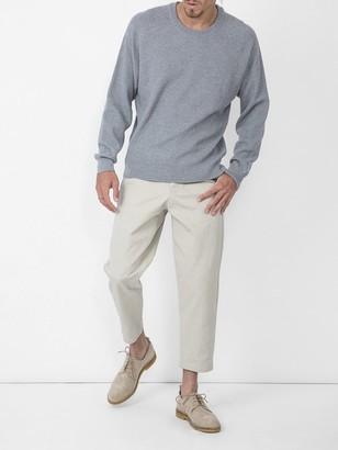 Ami Alexandre Mattiussi Crew Neck Sweater Seed Stitch Heather Grey
