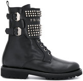 Philipp Plein studded buckle boots
