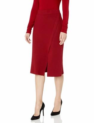 Anne Klein Women's Long Sweater Skirt with Slit