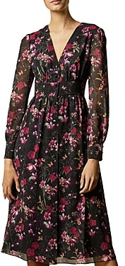 Ted Baker Adriela Fern-Forest Printed Midi Dress
