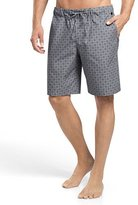 Hanro Sergio Printed Woven Lounge Shorts, Gray/White