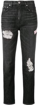 Heron Preston ripped regular fit jeans