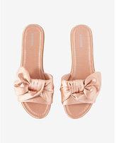Express Satin Bow Slide Sandal