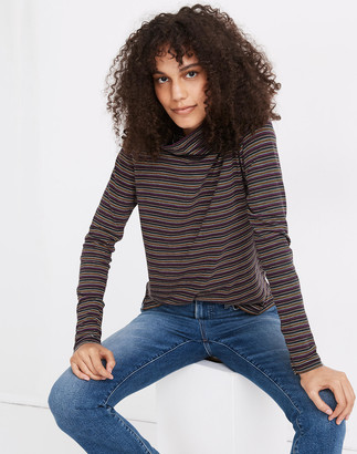 Madewell Whisper Cotton Turtleneck in Evie Stripe