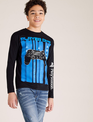 Marks and Spencer Pure Cotton PlayStation Top (6-16 Yrs)