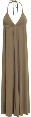 Heidi Klein Lamu Island Stretch-modal Jersey Halterneck Maxi Dress