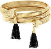 Vince Camuto Gold-Tone Black Tassel Coil Bracelet