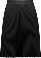 Valentino Pleated wool-blend skirt