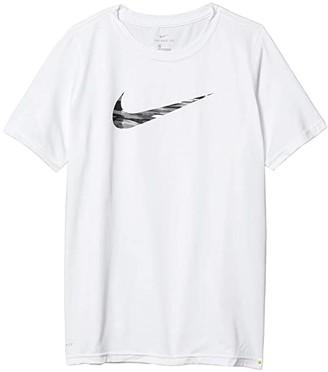 Nike Kids Dry Legend Swoosh Fill Tee (Little Kids/Big Kids) (Black) Boy's T Shirt