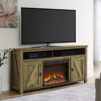 Mistana Whittier TV Stand for TVs up to 60 inches with Electric Fireplace Included Mistana Color: Rustic