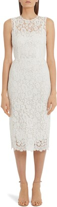 Dolce & Gabbana Sleeveless Lace Midi Sheath Dress