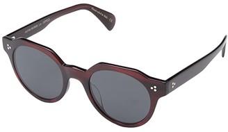 Oliver Peoples Irven (Espresso/Damson) Fashion Sunglasses