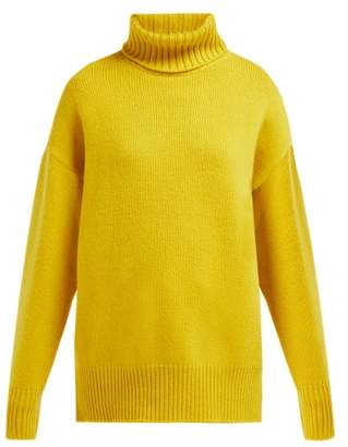 Extreme Cashmere - No. 20 Roll-neck Stretch-cashmere Sweater - Womens - Yellow