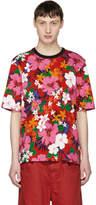 Ami Alexandre Mattiussi Red All Over Flower T-Shirt