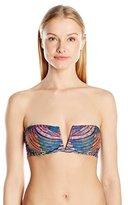 Mara Hoffman Women's Radial V-Wire Bandeau Bikini Top