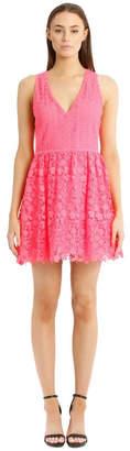 Alice + Olivia Hot Pink Lace Dress Hot
