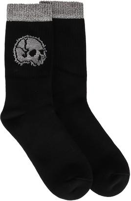 Alexander McQueen Glitter Skull Crew Socks