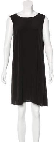 Veda Leather-Trimmed Shift Dress
