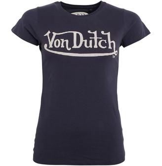 Von Dutch Womens Chicane Crew T-Shirt Navy/White