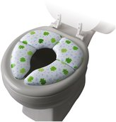 Mommys Helper Mommy's Helper Cushie Traveler Folding Padded Potty Seat with Carry Bag - White with Frog Design