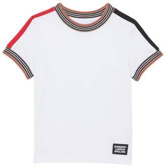 Burberry ICON STRIPES COTTON JERSEY T-SHIRT