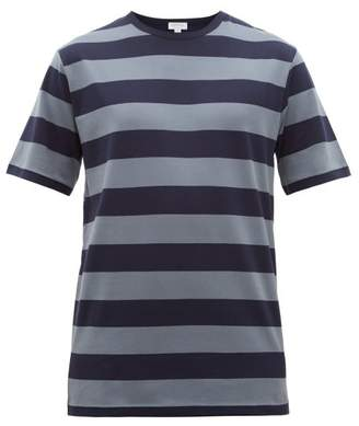 Sunspel Striped Cotton-jersey T-shirt - Mens - Navy Multi