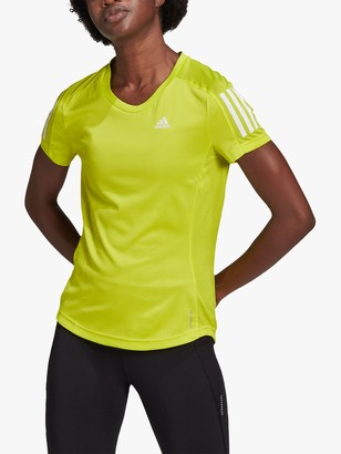 adidas Own The Run Short Sleeve Running Top, Acid Yellow