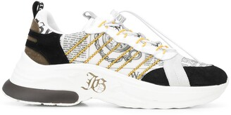 John Galliano Printed Lace-Up Sneakers