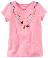 Carter's Toddler Girl Short Sleeve Necklace Tee