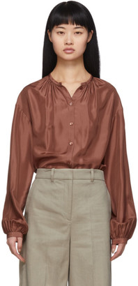 Joseph Brown Silk Habotai Bowell Blouse