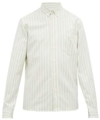 Ami Candy-striped Cotton-oxford Shirt - Mens - White Stripe