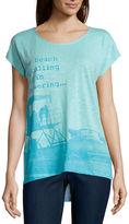 ST. JOHN'S BAY St. John's Bay Short Sleeve Scoop Neck T-Shirt-Talls