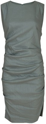 Nicole Miller Sage Stretch Linen Lauren Dress