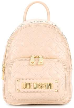 Love Moschino Faux Leather Quilted Backpack