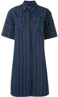 PortsPURE Mixed-Pattern Shirt Dress