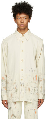 AURALEE Off-White Painted Gabardine Max Shirt