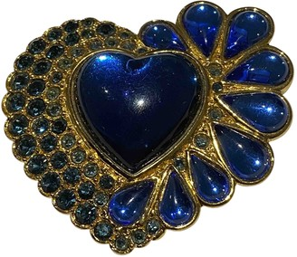 Saint Laurent Blue gold and steel Pins & brooches