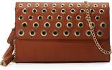 Neiman Marcus Tegan Small Grommet Clutch Bag