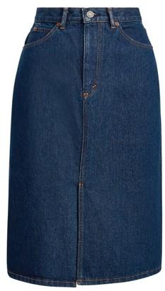 Ralph Lauren High-Rise Denim Skirt