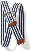 Old Navy Striped Webbed-Canvas Belt for Men