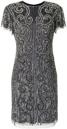 Aidan Mattox Embellished Shift Dress